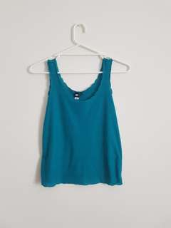 Teal Scallop Cut Singlet