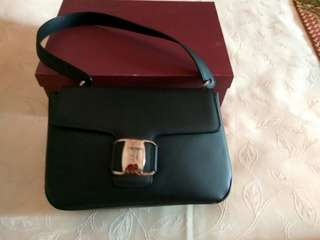 Black Selvatore Ferragamo handbag made in Italy bought in US