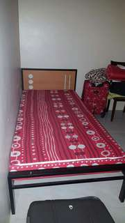 Single bed with frame with blanket  (freebie)
