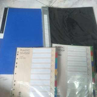 A3 Clear book files And plastic dividers