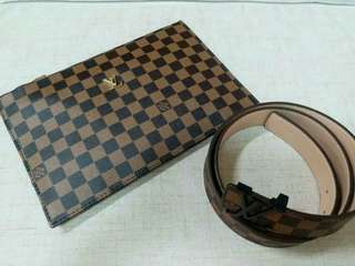 Louis Vuitton Clutch with Belt set