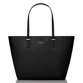 KATE SPADE Cedar Street Harmony Medium Black Tote Bag