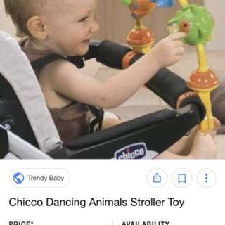 Stroller Toys Chicco Dancing Animals Unused