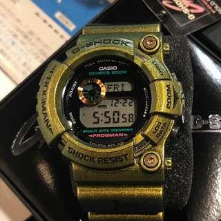 好新淨 17年十月尾188購入 casio G-Shock Frogman Gold Defender GW-200GM-9JF GW200 白虎 GW225 not GWF1000 GWF-1000 GF8250 DW8200 蛙人