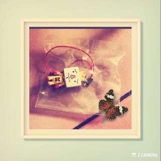 豆腐人吊飾