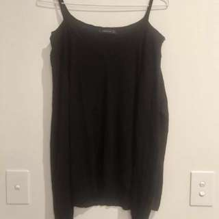 🖤 ZARA 🖤 Knit Top With Cold Shoulder Cutouts : LARGE