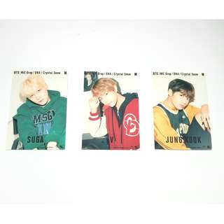 BTS Mic Drop/ Crystal Snow/ DNA official photocards (Suga, V, Jungkook)