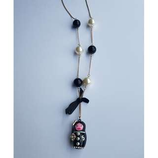 BN Trendy & Pretty Long Crafted Chanel Doll Necklace