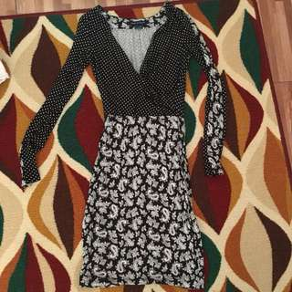 French Connection Dress Pattern Black
