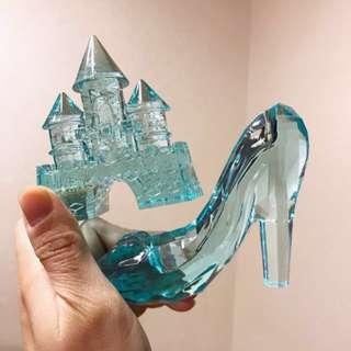 冒險樂園 日本仿水晶擺設 玻璃鞋 城堡 公主 寶石 南瓜車 namco