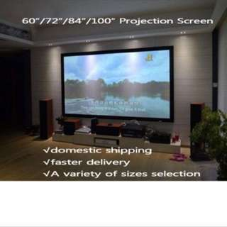 Projector screen + Projector