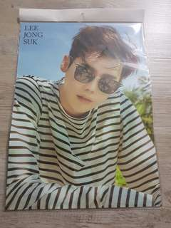 Lee Jong Suk poster 12 pieces and 1 sticker set
