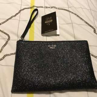 Guess sparkle clutch bag