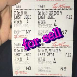 Last Jedi Movie Ticket