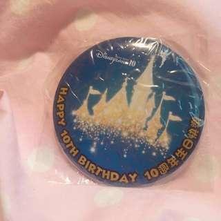 Disney迪士尼樂園10週年襟章(包郵)