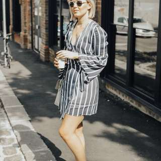 Isla Label Navy stripe dress