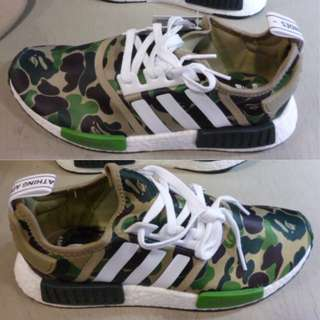 1447c4ae2d6a0 Adidasq NMD R1 Green Camo Bape Size 10US