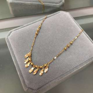 18k yellow gold anklet