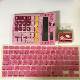 Hello Kitty Calculator, Macbook keypad, chop
