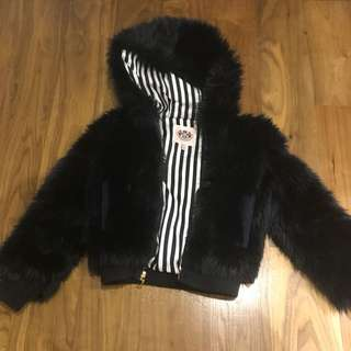 Juicy couture girl faux fur jacket