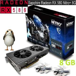 SAPPHIRE NITRO+ RX 580 8G GDDR5.