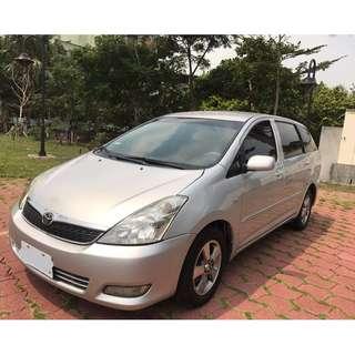 全台最便宜實價出清  正2005年  Toyota Wish  2.0E版 改多功能觸控導航音響 就賣13萬8  自售 一手車 實車實價