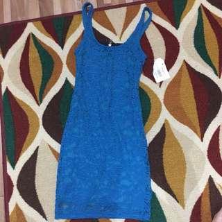 Brukat Brokat Mini Dress Blue