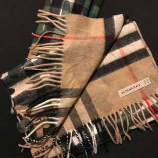 *NEW* [Burberry] Classic Camouflage Print Check Scarf 經典迷彩羊絨雙面圍巾
