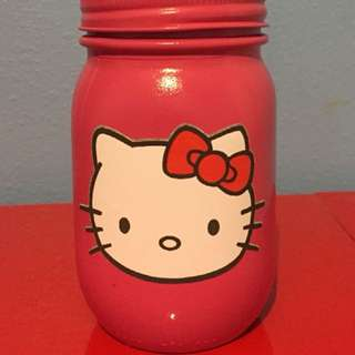 """Hello Kitty"" Mason Jar Coin Bank"