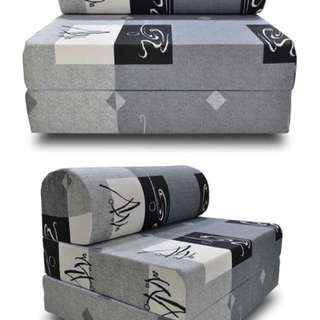 Maxcoil Fabric Grey Sofa Bed - USED ($35 NON - NEGO)