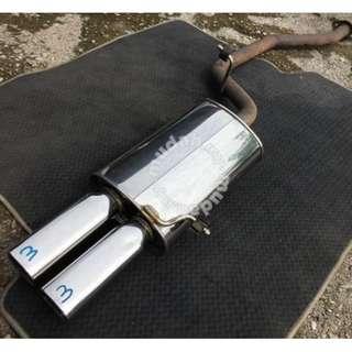 """Muffler Exhaust FGK Fujitsubo Dual Tip 2"""" Japan"""