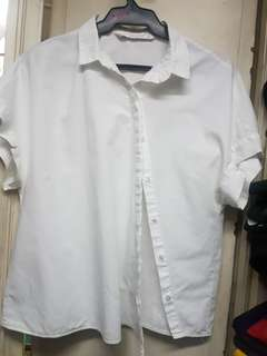 Zara Side Button Down Polo