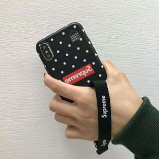 Supreme Phone Case With Strap - iPhone 6/7/8/X