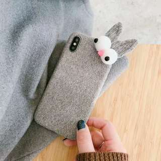 Grey Bunny Phone Case For iPhone 6/7/8/X