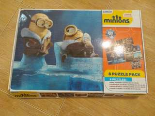 Minions Jigsaw Puzzle pack of 8