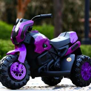 Children's electric motorcycle motor tricycle kids seated male and female toy car battery