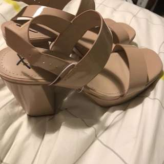 H&M nude platform shoes