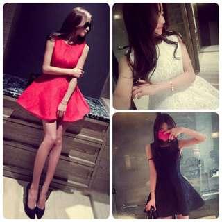 🚚 全新 紅色傘洋裝