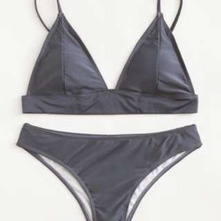 BRAND NEW Grey / Gray Triangle Bikini Set
