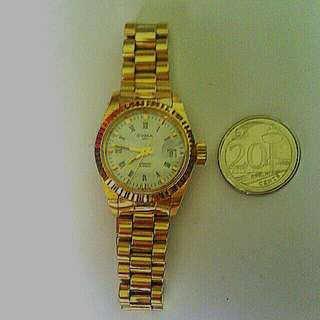 Cyma gold automatic watch