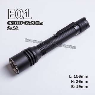 (SALE) E01 CREE XP-G2 200lm 2xAA Flashlight
