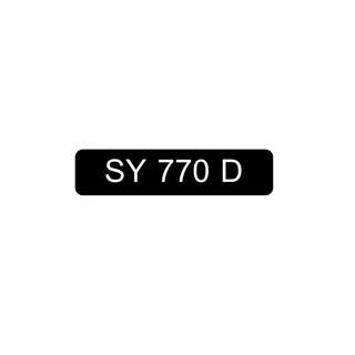 Car Number Plate for Sale : SY 770 D