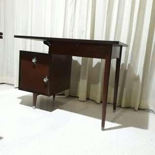 vintage burmese teakwood mid century desk