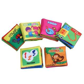 Baby Educational Cloth Book - Set of 6