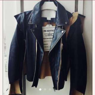 Martin Margiela H&M Leather Acne Ann Dem Balmain Moschino Jacobs jacket balenciaga givenchy Lanvin toga Ysl saint 重裝皮䄛