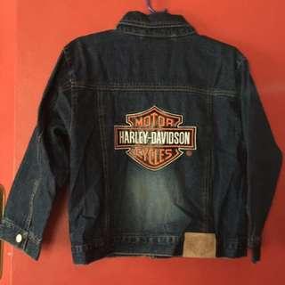 Official HARLEY DAVIDSON Motorcycles Denim Jean Jacket FOR KIDS