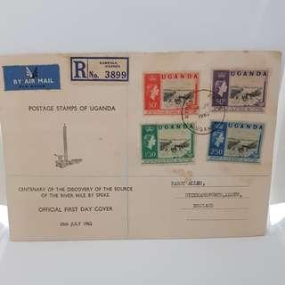 Uganda 1962 River Nile FDC