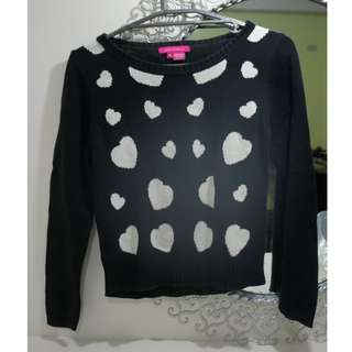Kids of Bayo Heart Patterned Knitted Sweater Top