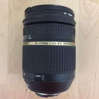 Tamron Lens 18-270mm Nikon Mount