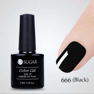 Black gel polish